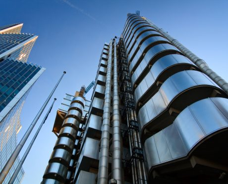 mirrored Lloyd's of London building